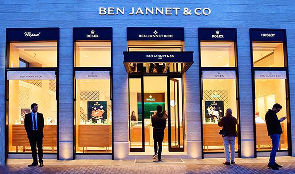 FACADE BIJOUTERIE BEN JANNET &CO